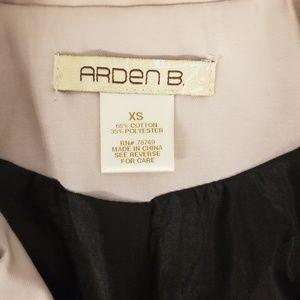 Arden B Jackets & Coats - Cream w/Black Trim Trench Coat, Size XS